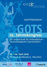20. Juni 2010 - GOTS-Jahreskongresse