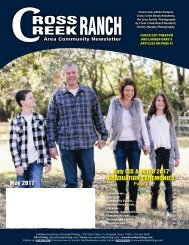 Cross Creek Ranch May 2017