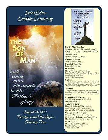 August 28 Bulletin.pdf - St. Edna Catholic Church
