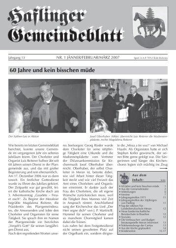Nr. 1 - 2007 (Ausgabe - Jänner, Februar, März)