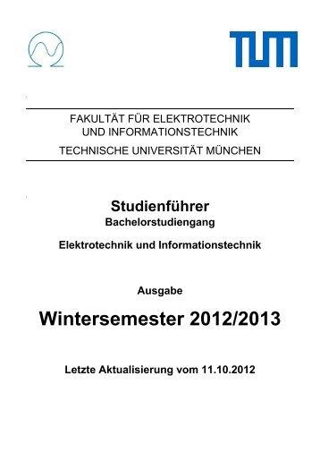 Elektrotechnik und Informationstechnik - Fakultät für Elektrotechnik ...