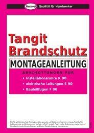 Tangit Brandschutz-Konzept - SHK-Journal