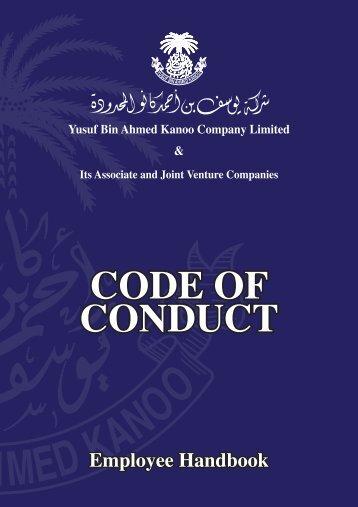 YBA Kanoo Code of Conduct English  Arabic