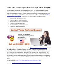 1-888-201-2039 Yahoo Technical Support Number