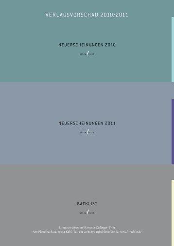 VERLAGSVORSCHAU 2010/2011 - Litradukt
