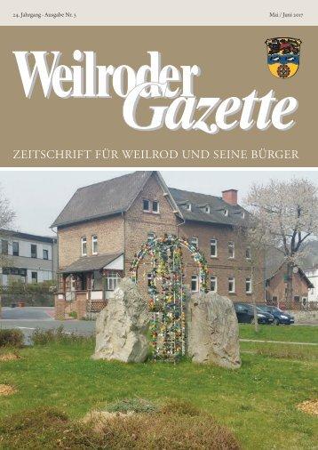 Weilroder Gazette Mai/Juni 2017