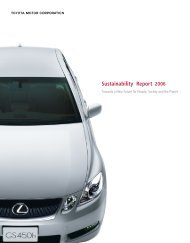 Sustainability Report 2006 - Toyota