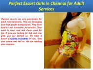 Perfect Escort Girls in Chennai for Adult Services
