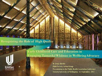 Recognising the Role of High Quality Early Childhood Care and ...