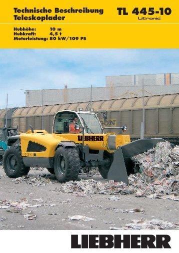 Technische Beschreibung TL 445-10 ... - Passion-Liebherr
