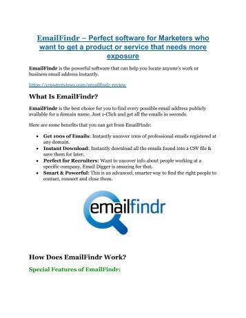 EmailFindr review in detail – EmailFindr Massive bonus