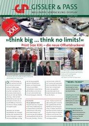 think big ... think no limits!« Print Size XXL