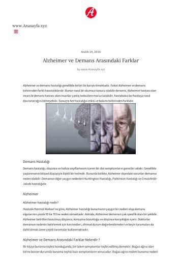 alzheimer-demans-arasindaki-farklar