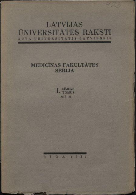 UNIVERSITĀTES RAKSTI - DSpace
