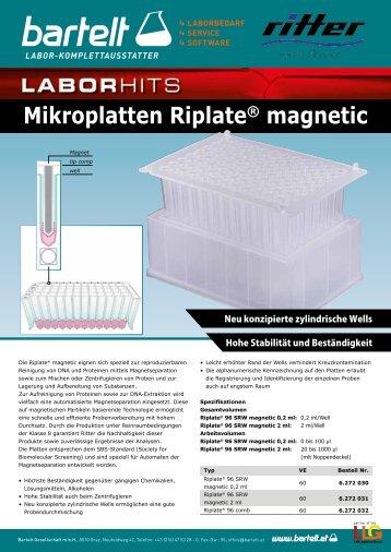 Mikroplatten Riplate magnetic zur Magnetseparation von Proteinen