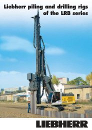 Image brochure for Liebherr Piling- & Drilling Rigs