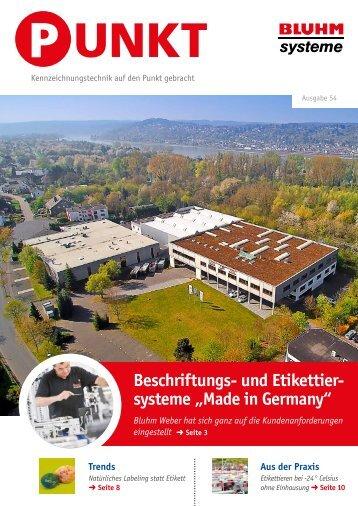 Magazin PUNKT 54 - Bluhm Systeme (April 2017)