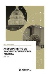 Master en Asesoramiento de Imagen y Consultoría Política 2017-2018