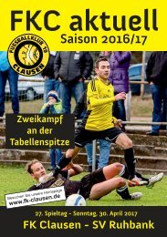 FKC Aktuell - 27. Spieltag - Saison 2016/2017