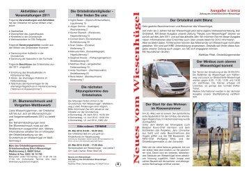 Ausblick 2012 - Wiesenhügel