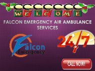 Relief Services by Falcon Emergency Air Ambulance Services in Vijayawada and Vellore