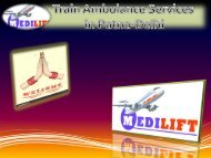 Get World Best Train Ambulance Services by Medilift
