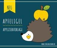 Lookbook Appliziervorlage Apfeligel von Lange Hand