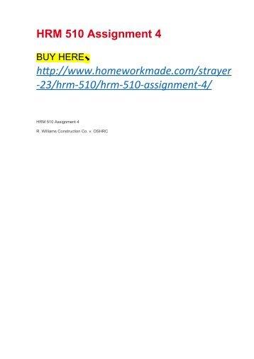 HRM 510 Assignment 4