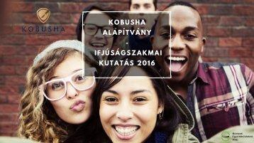 KOBUSHA - Ifjúságszakmai kutatás 2016