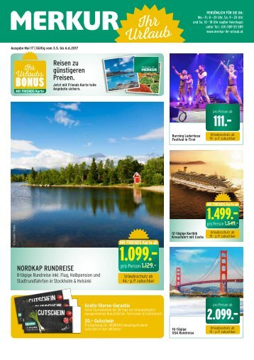MERKUR Ihr Urlaub Mai Folder 2017