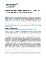 Diabetic Retinopathy Market Size, Share, Trends, Opportunity and Forecast 2017 - 2025