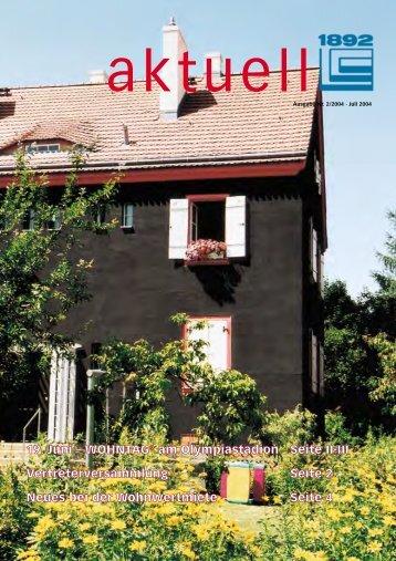 Juli 2004 - Berliner Bau- und Wohnungsgenossenschaft von 1892 eG