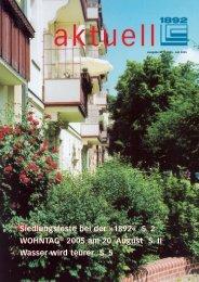 Juli 2005 - Berliner Bau- und Wohnungsgenossenschaft von 1892 eG