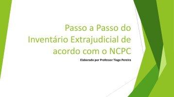 Tiago Pereira - Inventário Extrajudicial de Acordo com o NCPC - 2017 (Pdf)