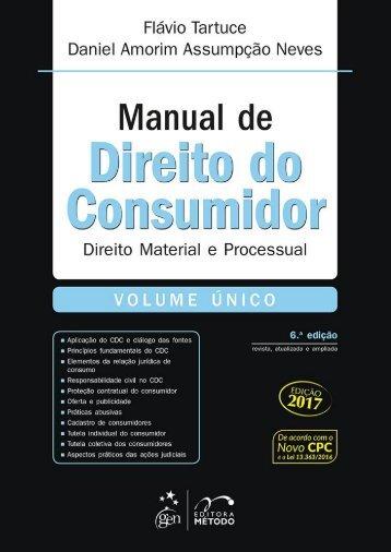 #Manual de Direito do Consumidor (2017) - Flávio Tartuce e Daniel Amorim Assumpsção Neves