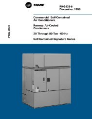 Commercial Self-Contained Air Conditioners and Remote Air - Trane