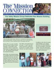 Fox Valley Mission Group Dedicates New Mission Building