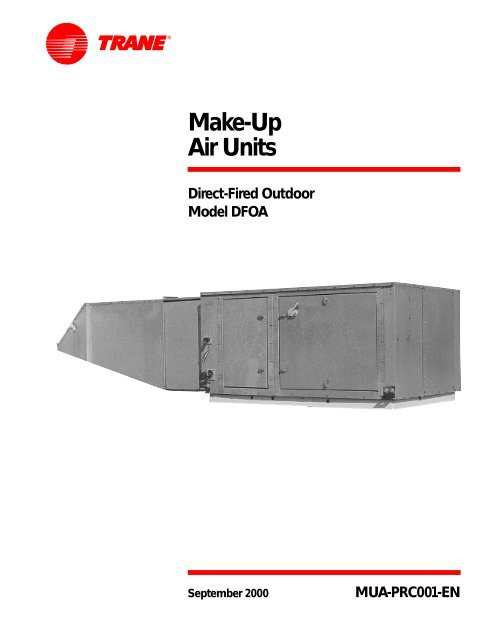 Make Up Air Units Direct Fired Outdoor Model DFOA PDF