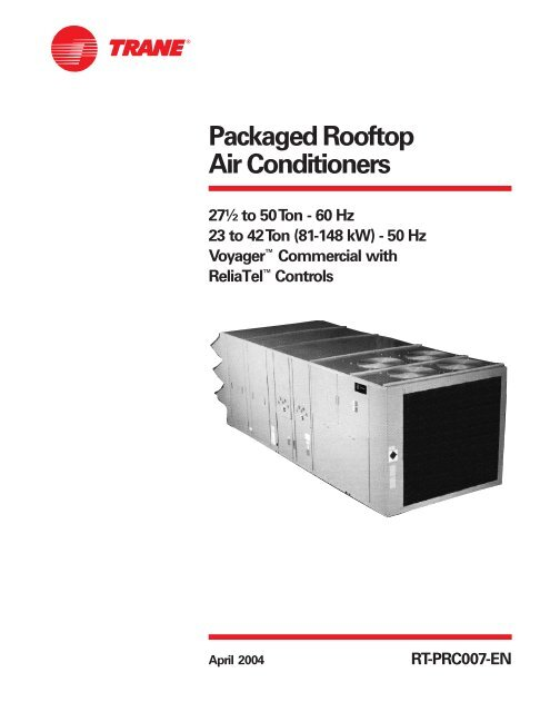 Voyager Commercial Rooftops 27 To 50 Ton Trane