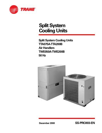 Split System Cooling Units - Trane