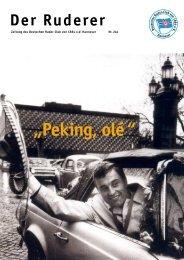 """""""Peking, olé """" - Deutscher Ruder-Club von 1884 e.V. - Hannover"""