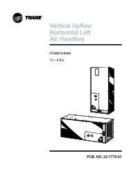 Vertical Upflow Horizontal Left Air Handlers - Trane