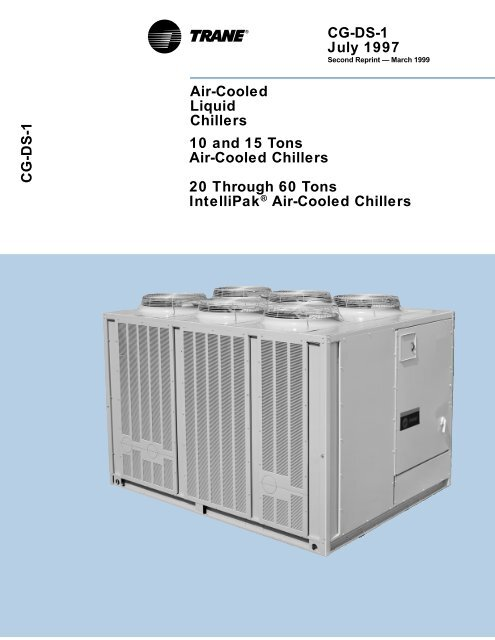 CG DS 1 3 99 10 60 Ton Air Cooled Chillers Data Catalog
