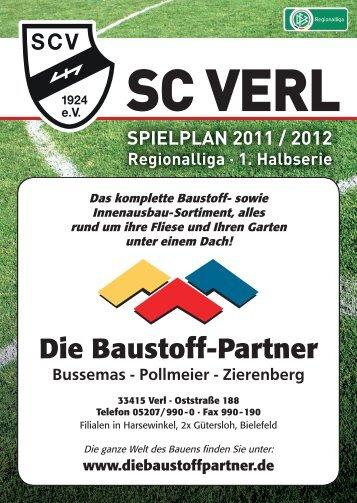 sc verl spielplan 2011 / 2012 - Druckerei Schmelter