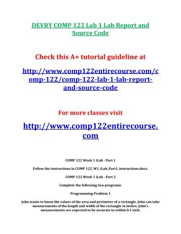 comp 230 lab 1 Click the button below to add the comp 230 week 1 lab windows cli commands to your wish list.