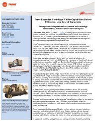 Trane Expanded Centrifugal Chiller Capabilities Deliver Efficiency ...