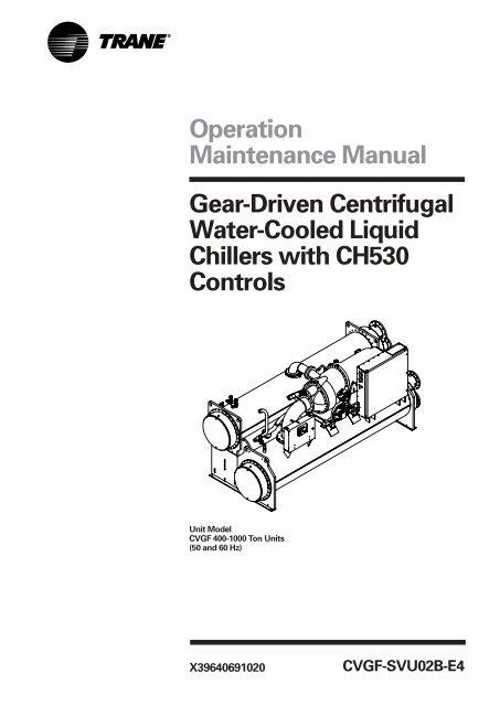 Operation Maintenance Manual Gear Driven Centrifugal Water