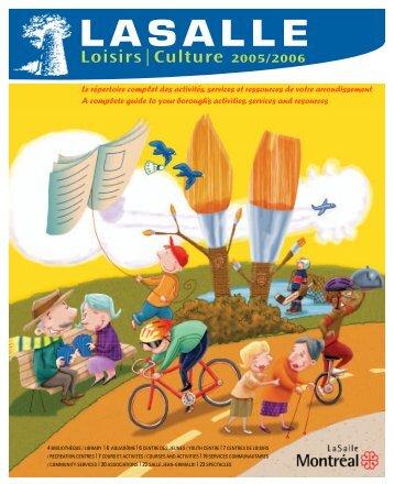 COURS ET ACTIVITÉS Inscriptions 2005-2006 ... - Ville de Montréal