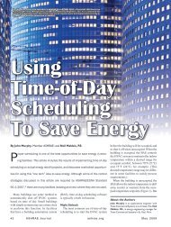 Using Time-of-Day Scheduling to Save Energy - ashrae
