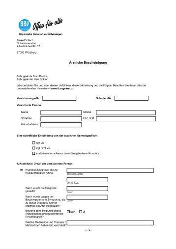 Ärztliche Bescheinigung - Sparkasse Bielefeld